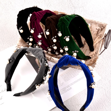 diadema de perlas retro de ala ancha NHAQ295481's discount tags