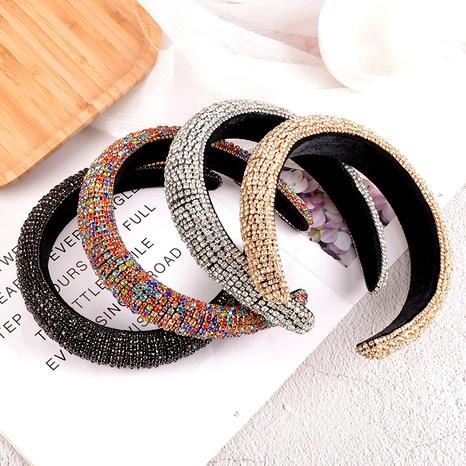 diadema barroca con perlas de diamantes de imitación y esponja NHAQ295488's discount tags