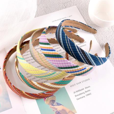diadema de rayas de color caramelo de moda NHAQ295501's discount tags