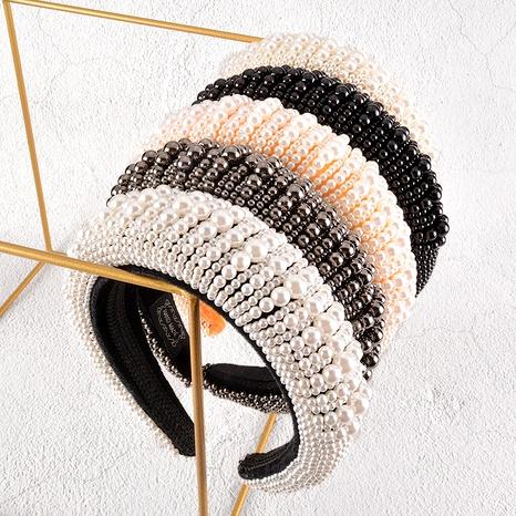 diadema de perlas de esponja de moda NHAQ295505's discount tags