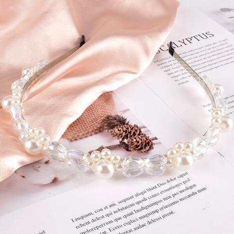 diadema de cristal de perlas de moda NHAQ295511's discount tags