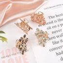 simple flower pearl hair catch clip NHAQ295514