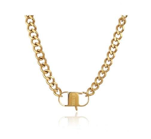 simple retro gold necklace NHAB295570's discount tags