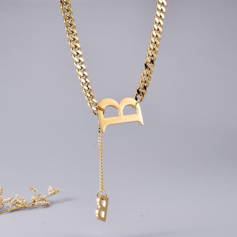 retro simple necklace NHAB295585