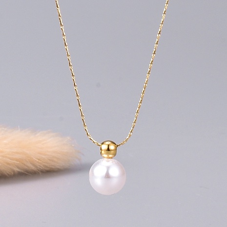 pearl gold necklace  NHAB295594's discount tags