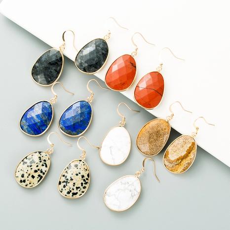 pendientes creativos de piedra natural NHLN295681's discount tags
