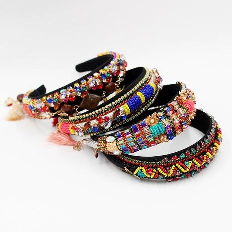 diadema barroca con diamantes incrustados de moda NHWJ295694's discount tags