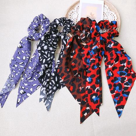 gomas para el pelo con cinta con estampado de leopardo NHOF295713's discount tags