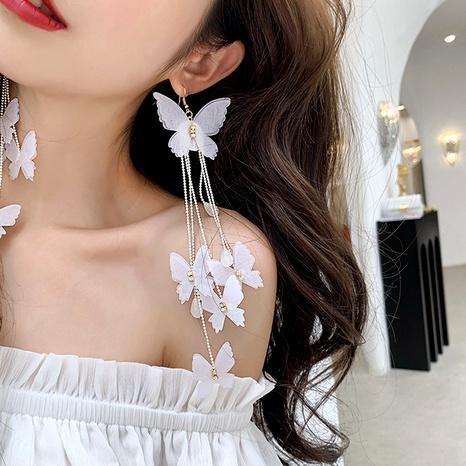 butterfly tassel long earrings NHDM295724's discount tags
