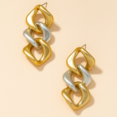 color matching chain earrings  NHGU295758's discount tags