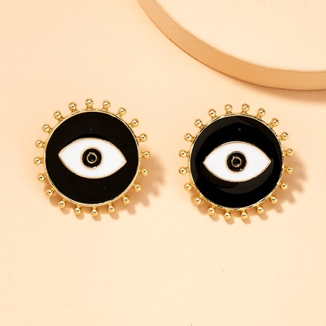 geometric alloy round eyes dripping earrings NHAI295779's discount tags