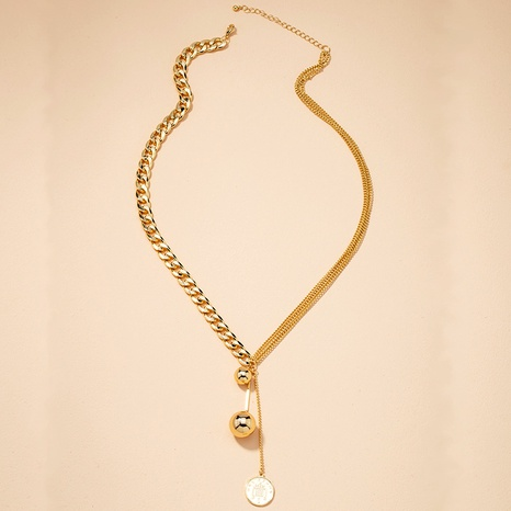 retro round beads coin pendant necklace NHAI295781's discount tags
