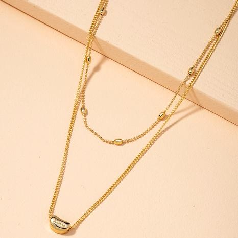 collier simple pendentif lettre perle NHAI295792's discount tags