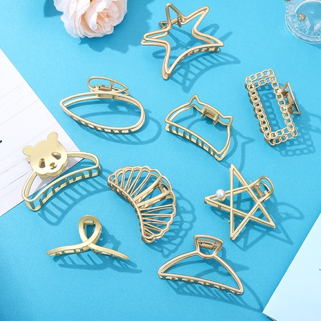 Metall kreative geometrische Panda Haarfangclip NHCL295795's discount tags