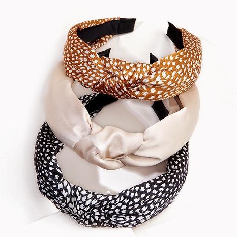 diadema de moda anudada con estampado de leopardo NHGE295817's discount tags