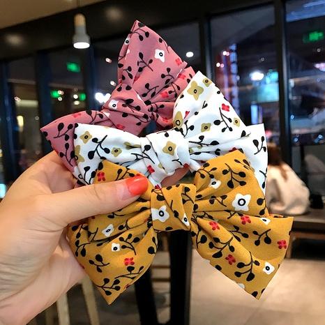 épingle à cheveux nœud en tissu floral NHDQ295843's discount tags