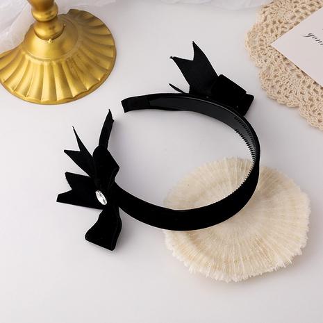 diadema de terciopelo retro con nudo de lazo NHMS295872's discount tags