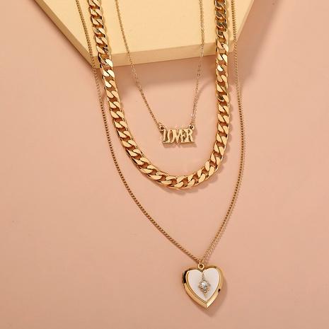 collier multicouche coquillage naturel blanc lettre de mode NHAN295920's discount tags