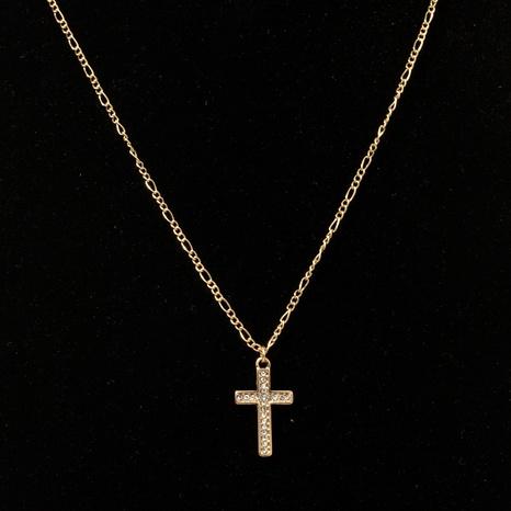 collar con colgante de cruz de diamantes NHQJ295939's discount tags