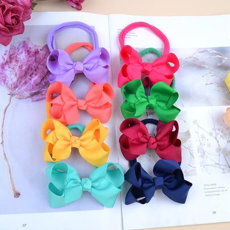 Kinderbogen Stirnband einfarbig gekräuselte Blume elastische Haarband Großhandel NHMO295978's discount tags