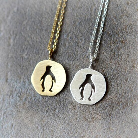 Alloy Penguin Pendant Necklace NHMO295993's discount tags