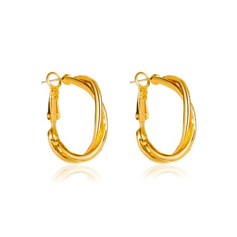 new simple retro twist earrings  NHMO296015's discount tags