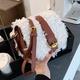 lamb hair semicircle saddle bag NHLH296172