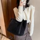 large capacity casual lamb hair portable bag NHRU296183