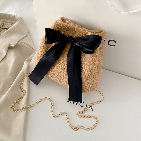 Bolso bandolera casual de pelo de cordero de invierno bolso de mensajero NHRU296532's discount tags