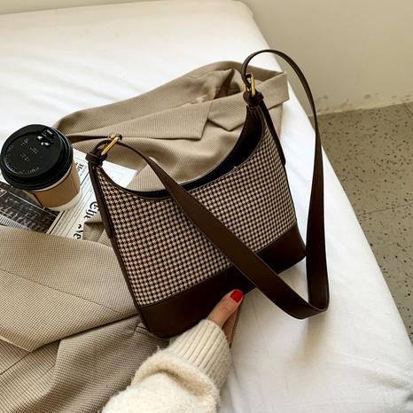 Retro-Gitter-Einkaufstasche mit großer Kapazität NHJZ296574's discount tags