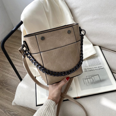 soft leather simple bucket bag  NHJZ296581's discount tags