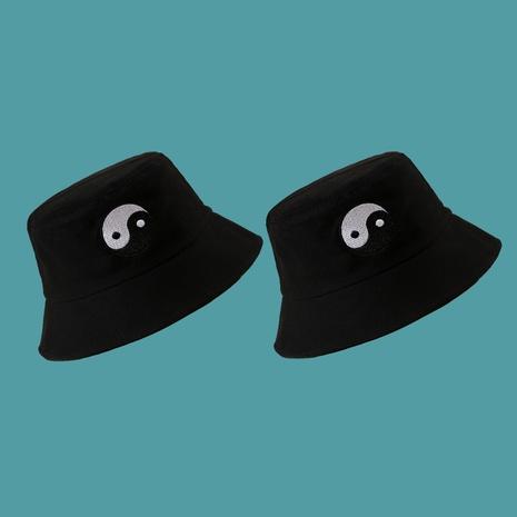 Black hat embroidery gossip fisherman hat  NHTQ267123's discount tags