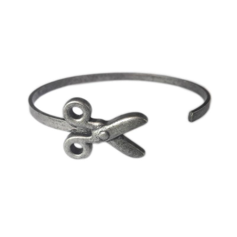 simple alloy scissors bracelet NHOA296667