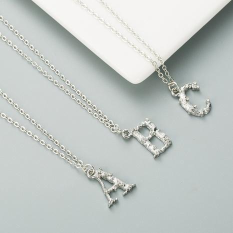 nouveau collier alphabet anglais NHLN296713's discount tags