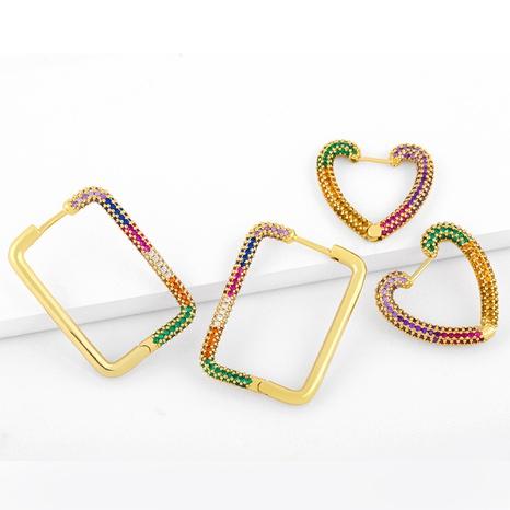 geometric rectangular diamond earrings  NHAS296745's discount tags