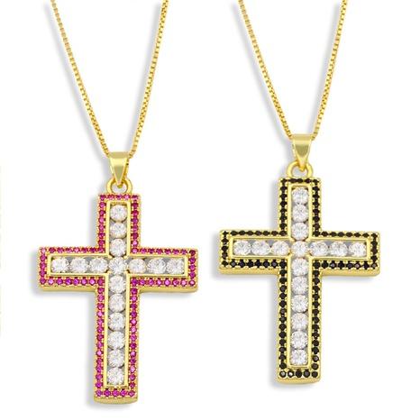 nuevo collar de cruz de diamantes de moda NHAS296753's discount tags