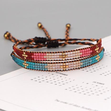 Bohemian retro ethnic Miyuki rice beads geometric beaded hand-woven wild bracelet  NHGW296757's discount tags