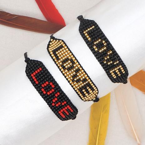 Bohemian handmade beaded Miyuki rice beads letter bracelet  NHGW296760's discount tags