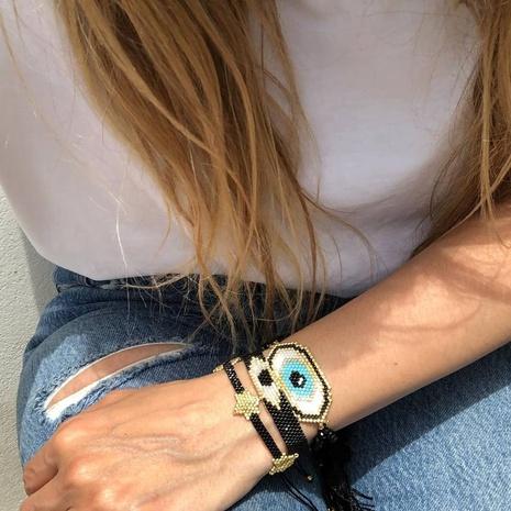 Retro Turkey Evil Eye Ethnic Style Beaded Bracelet  NHGW296762's discount tags