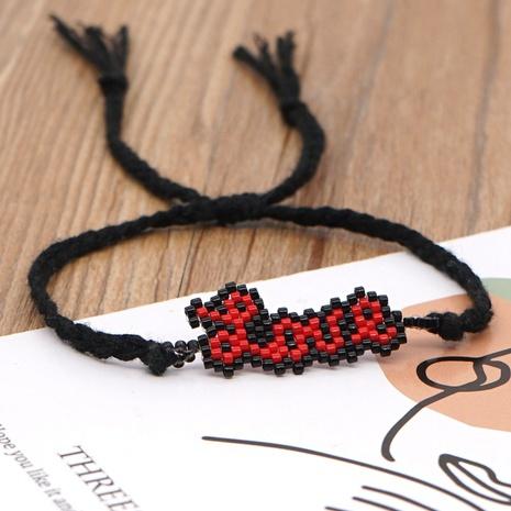 Retro Bohemia Miyuki rice beads hand-woven LOVE letter ethnic style beaded bracelet NHGW296774's discount tags