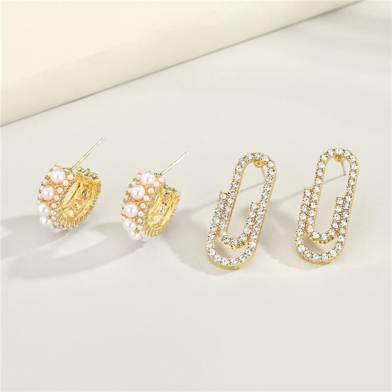 new niche pearl Cshaped earrings NHGO296789