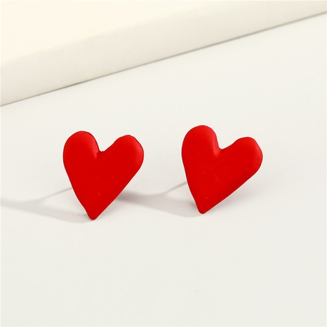 aretes pequeños de resina con corazón rojo NHGO296799's discount tags