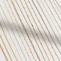 Collar de cadena de hueso de serpiente estrellada con cadena cruzada NHOK296810