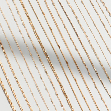 Cross Chain Starry Snake Bone Chain necklace NHOK296810's discount tags