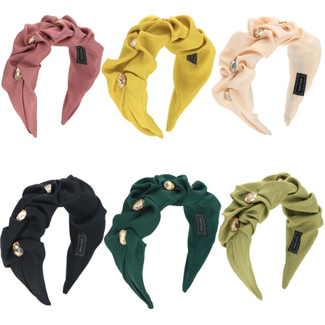 Barock Mode Edelsteine einfarbig Stirnband NHCO296860's discount tags
