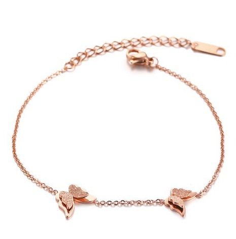 rose gold butterfly forest simple anklet NHAB296947's discount tags