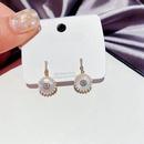 diamondstudded natural shell circle earrings  NHCG296977