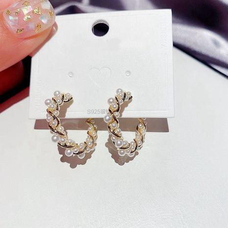 Mode Perle C-förmige Ohrringe NHCG296989's discount tags