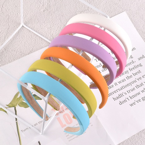 einfaches reines farbiges Schwammstirnband NHAQ297026's discount tags