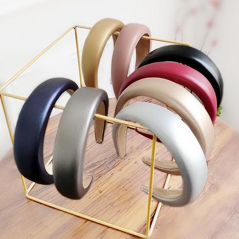 breites Lederschwamm-Stirnband aus Leder NHAQ297030's discount tags